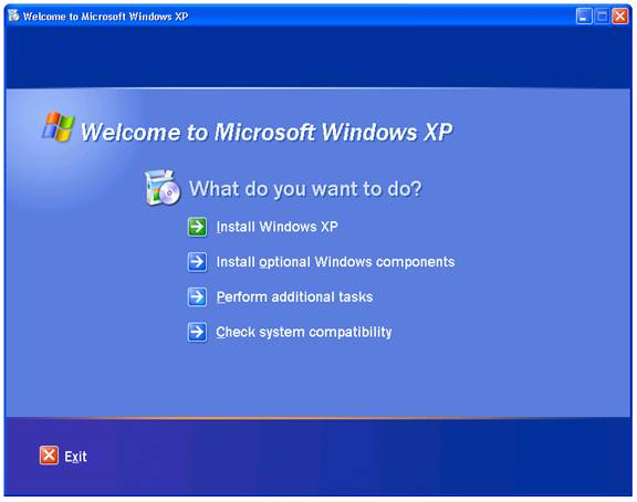 how to boot windows xp from cd