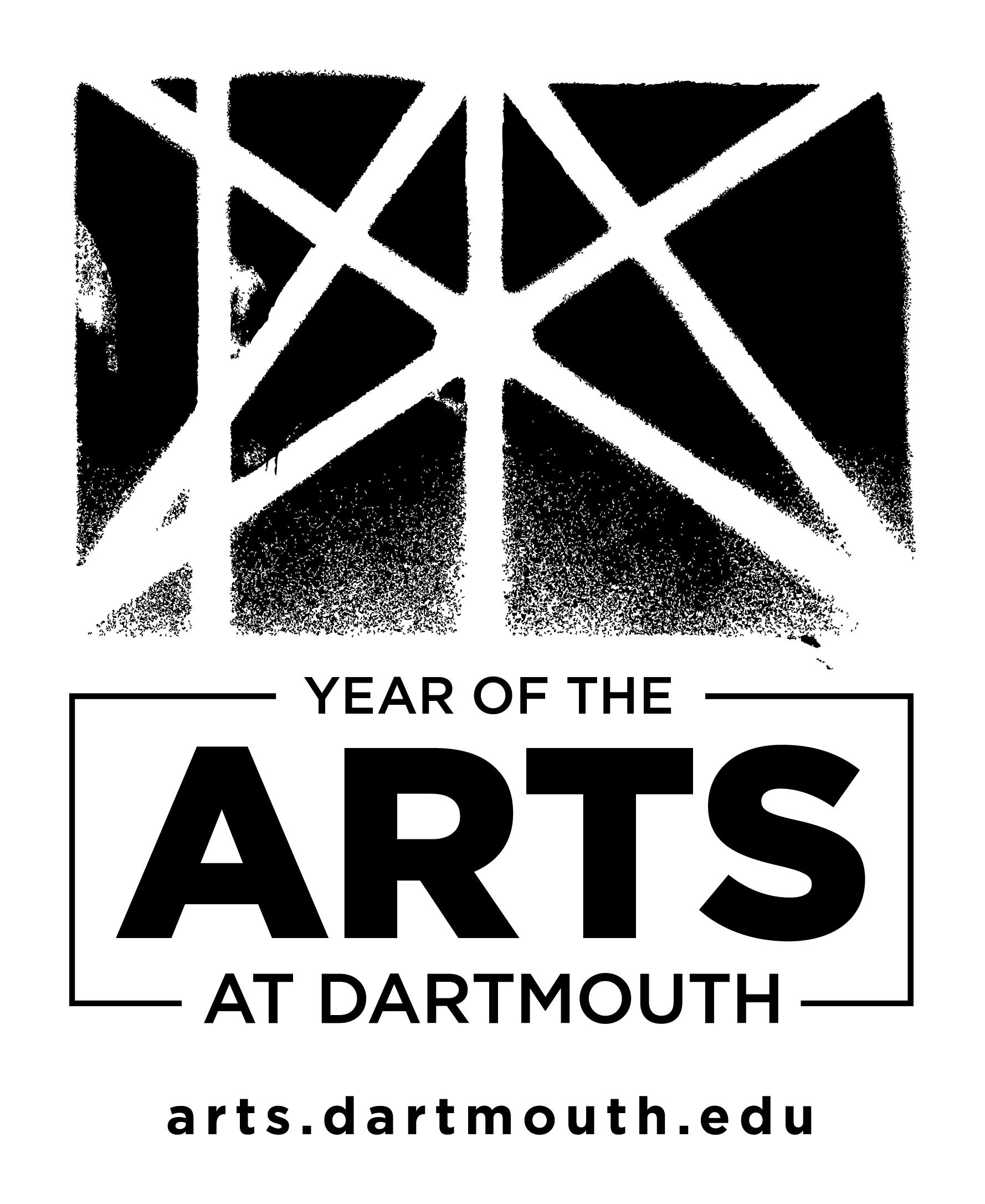 Year of the Arts logo with URL - black