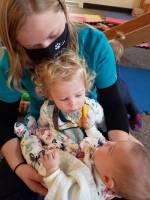 teacher with babies