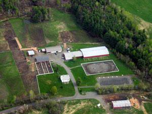 Aerial  of Dartmouth Riding Center Farm