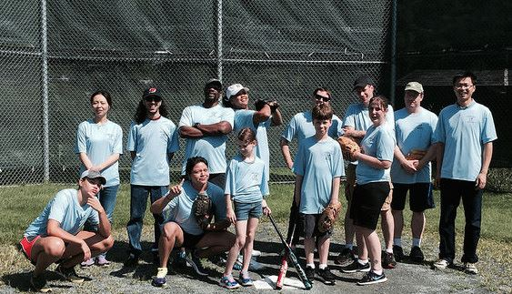 blue softball team ERN