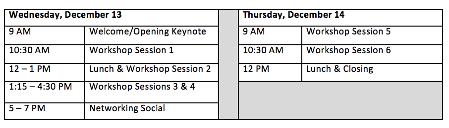 schedule of summit