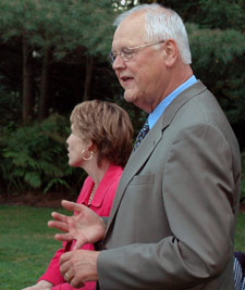 Photo of Jim Wright with Susan DeBevoise Wright