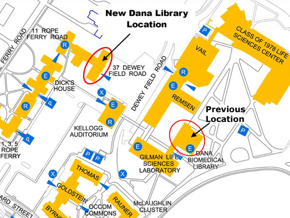 Dana Library Has Moved