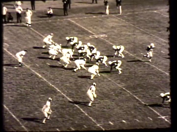 scene from the 1967 football season