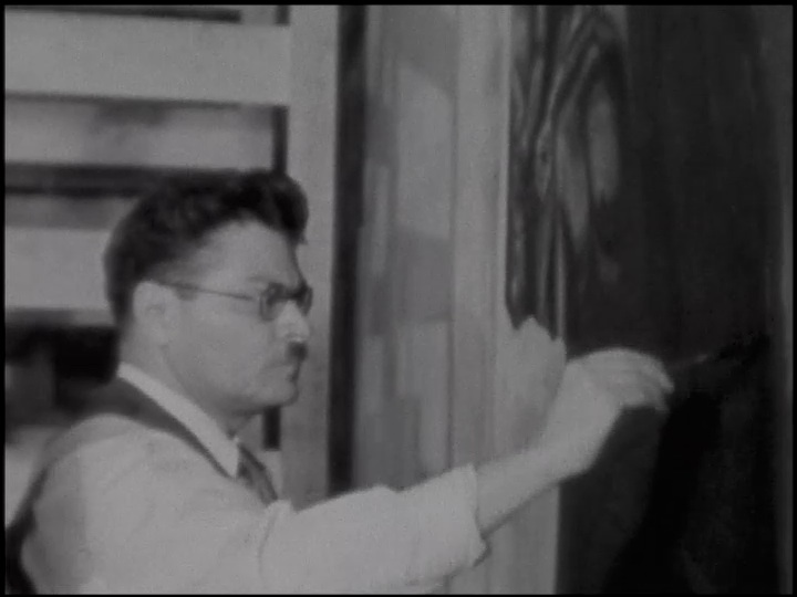 Orozco at work, 1934