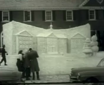 Snow sculpture, 1955