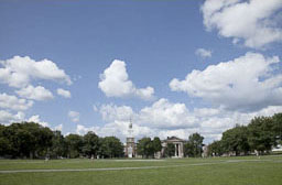 View of Baker Library from the Green