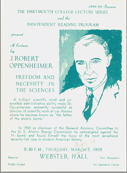 Oppenheimer lecture poster