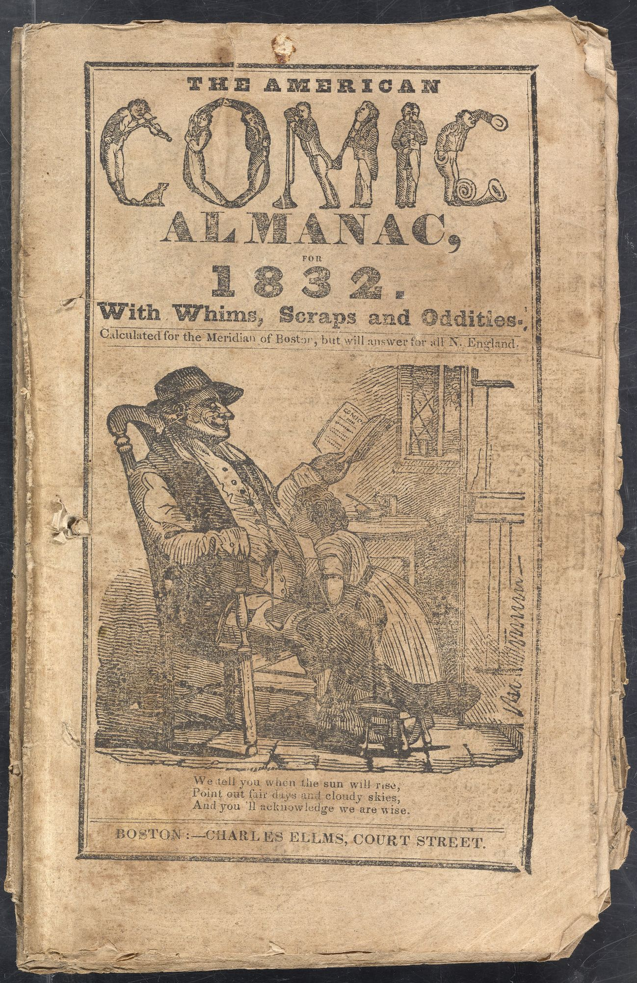 cover of The American Comic Almanac for 1832