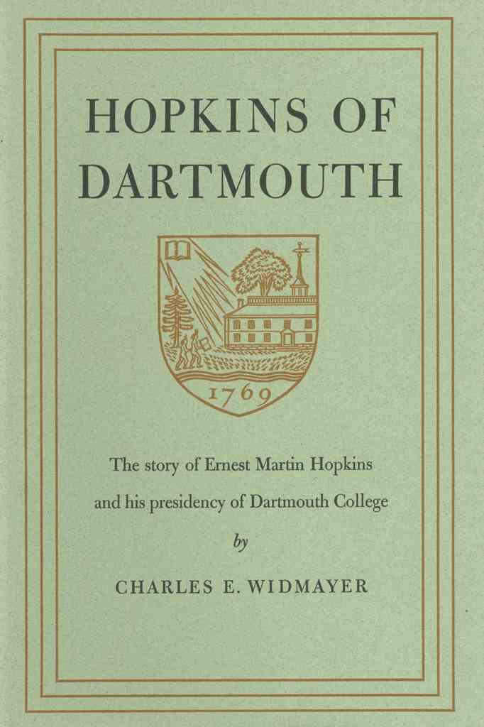Hopkins of Dartmouth cover