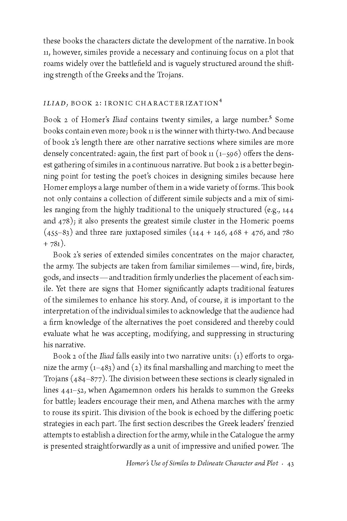 Homeric simile essay