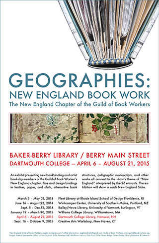 Geographies exhibit poster