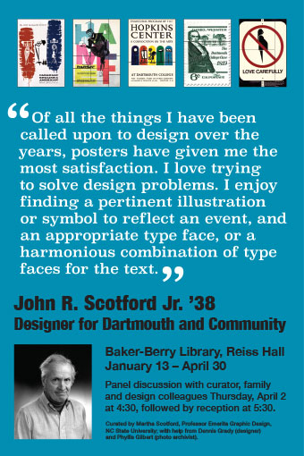 exhibit poster for John Scotford exhibit
