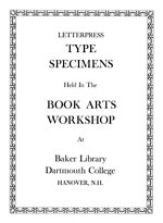 Type Specimens Title Page