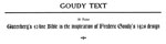 Goudy Text