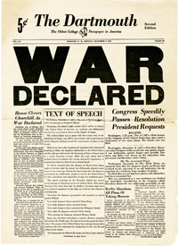"The Dartmouth, ""War Declared"""