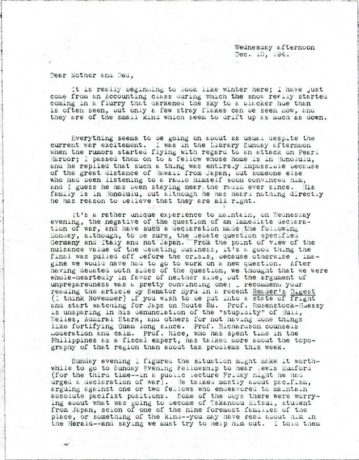 Dear Old Friend Letter