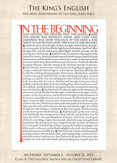 The King's English: The 400th Anniversary of the King James Bible