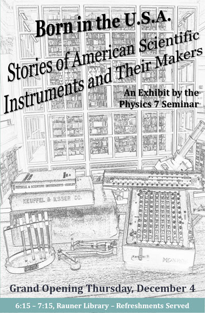 Born in the USA: Stories of American Scientific Instruments & Their Makers