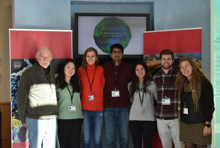 From left to right: Dr. Lee Witters, Jean Fang '20, Lily Hines '19, Arvind Suresh '19, Sophia Jacobi '21, John Fitzgerald '21, Valentina Sedlacek '18