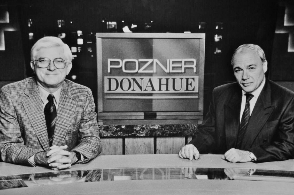 Phil Donahue and Vladimir Posner