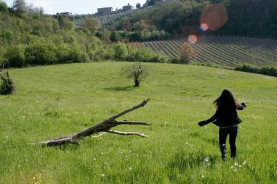 Photo of student in Tuscany