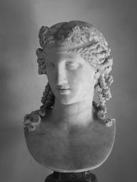Sculpted female head