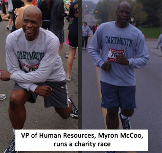 Myron McCoo running for charity
