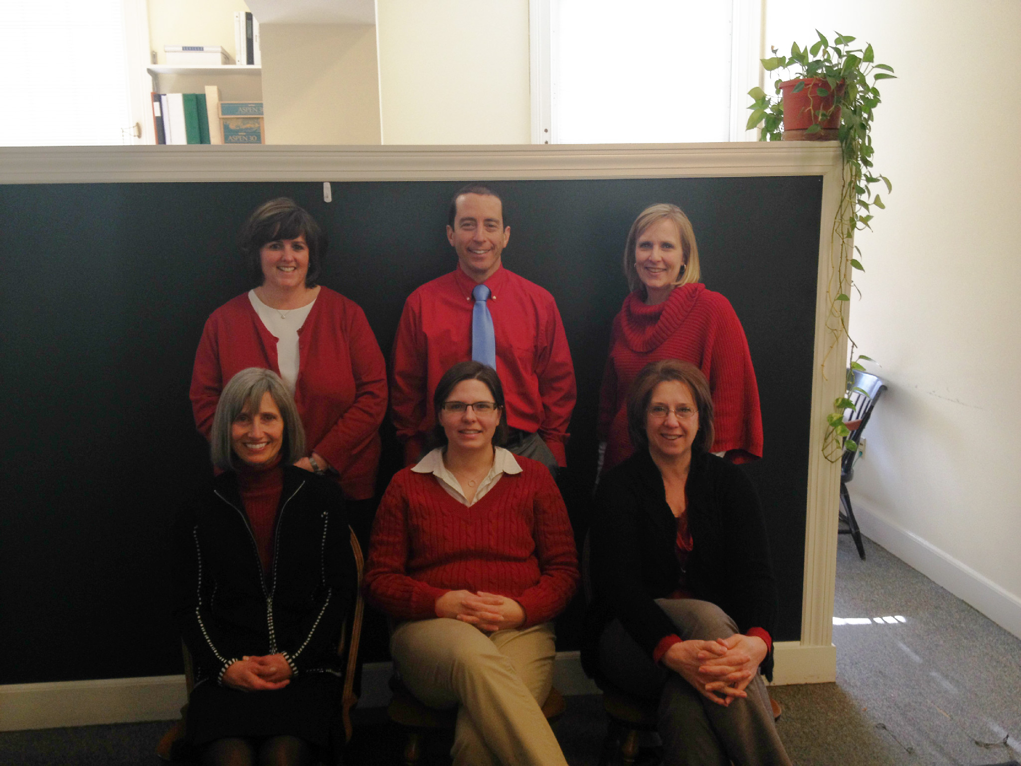 Financial Aid wearing red 2/7/2014