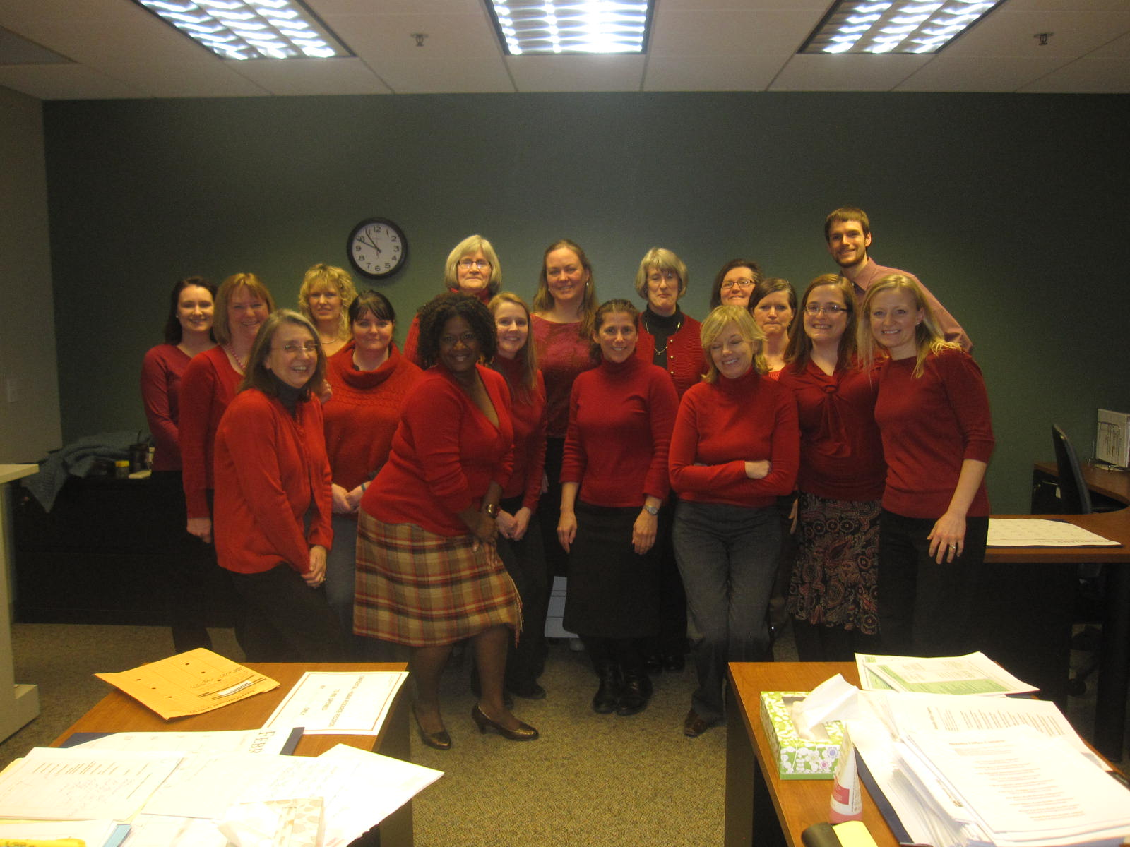 HR wearing red on 2/7/2014