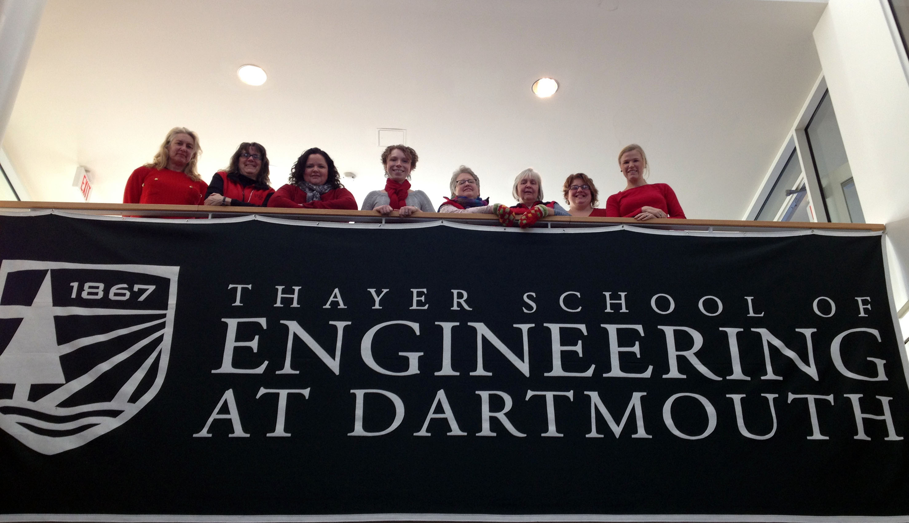 thayer wearing red on 2/7/2014