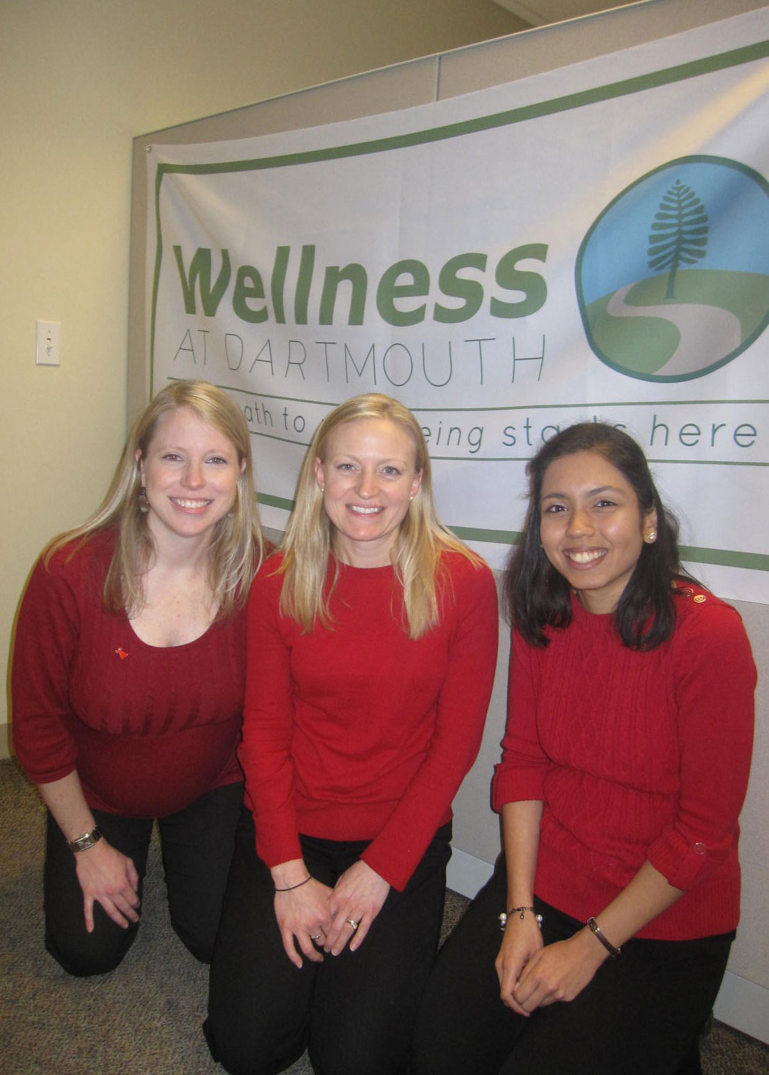 Wellness at Dartmouth Team Wearing Red to support heart month.
