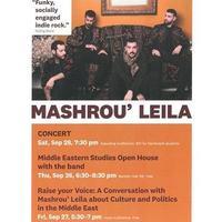 Middle Eastern Studies Open House with the band MASHROU' LEILA