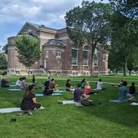 Sun Salutations, Savasana, + Smoothies: Summer Outdoor Yoga on Baker Lawn